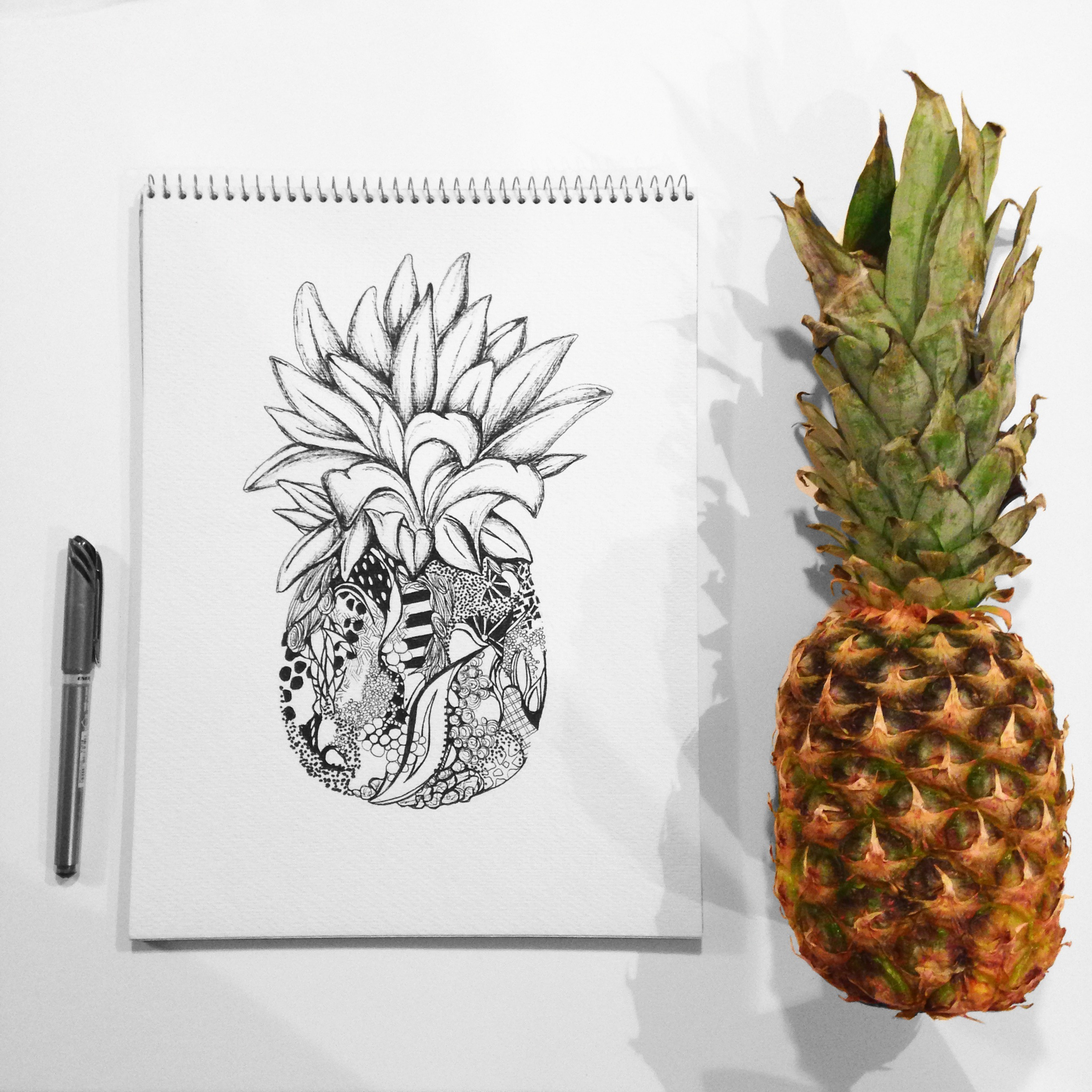 Kelsey Montague Sketchbook pineapple