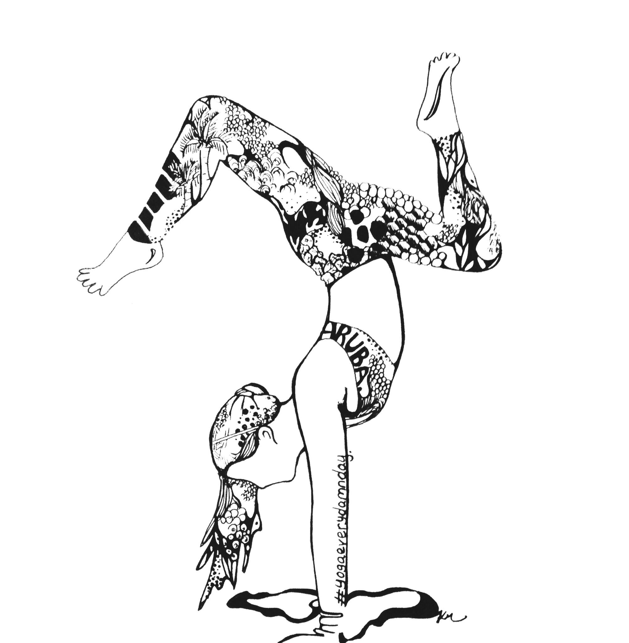 Kelsey Montague Yoga Girl Drawing
