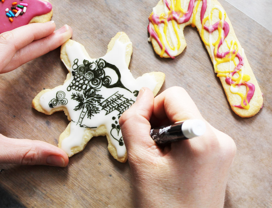 Sugar Cookie Art - Snowflake
