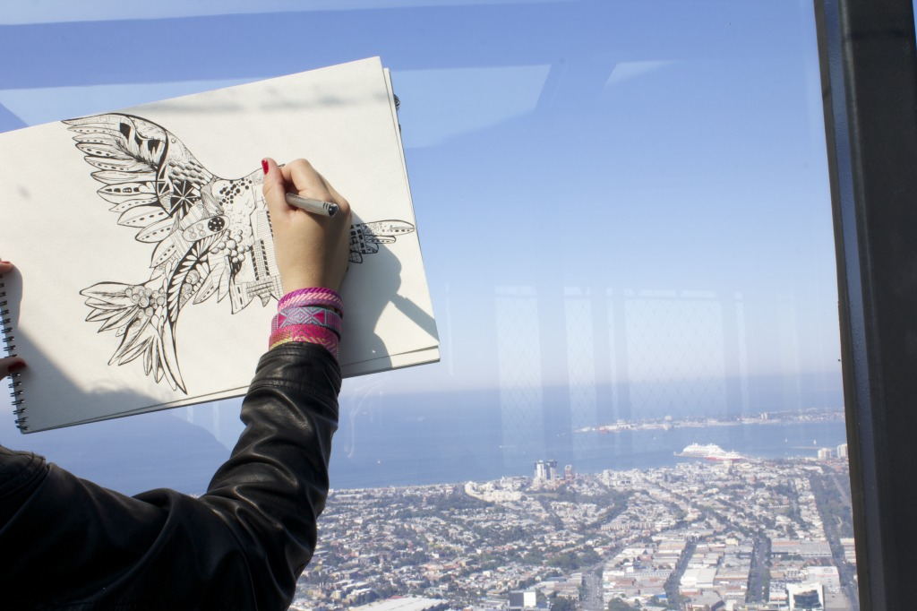 Kelsey Montague Drawing Melbourne Skyline