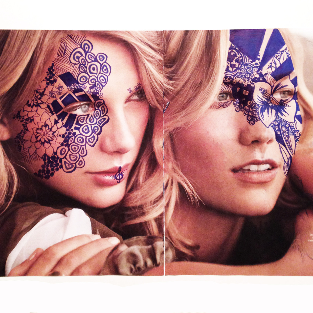 Taylor Swift & Karlie Kloss Magazine Art 2 by Kelsey Montague Art