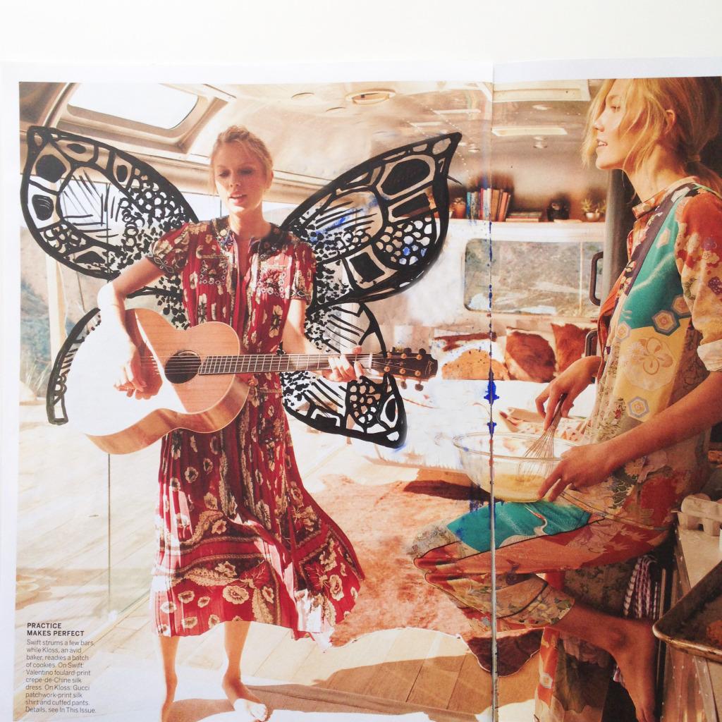 Taylor Swift & Karlie Kloss Vogue Magazine art by Kelsey Montague Art 6