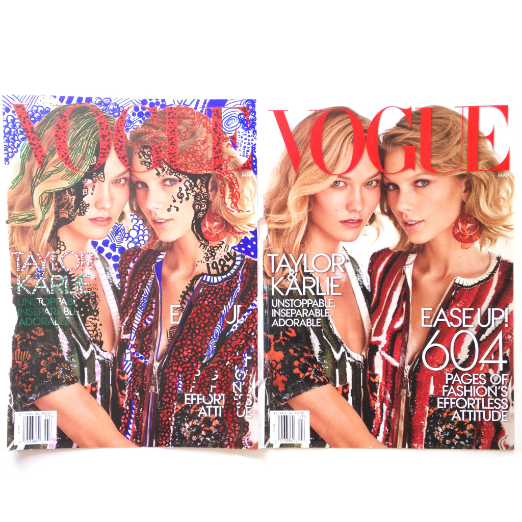 Taylor Swift & Karlie Kloss Vogue Magazine art by Kelsey Montague Art 8