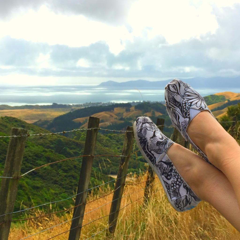New Zealand View - Kelsey Montague Art Shoes