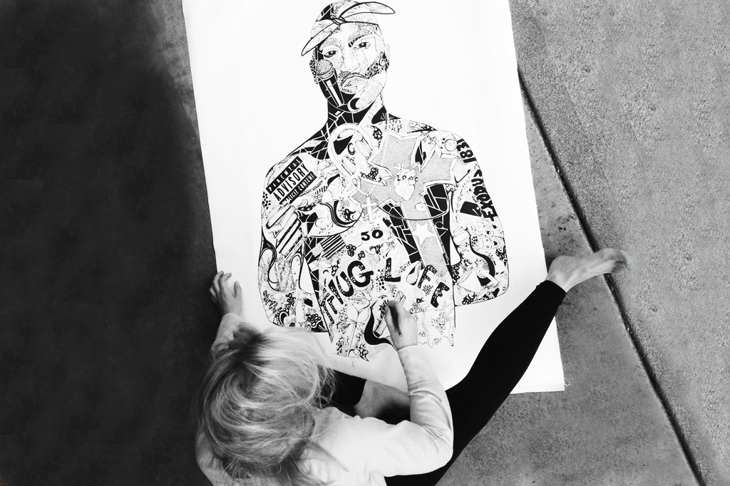 Tupac 5 by Kelsey Montague Art