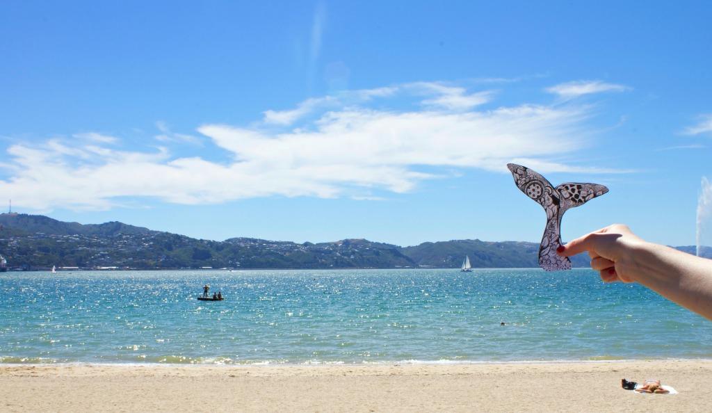 Wellington Harbour, Kelsey Montague Art Whale