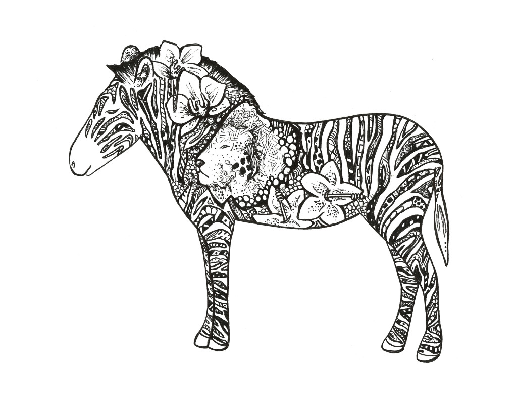 Zebra Tattoo by Kelsey Montague Art