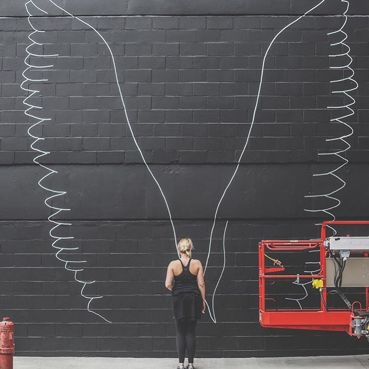 Nashville Wall Art nashville whatliftsyou wings!! | kelsey montague art