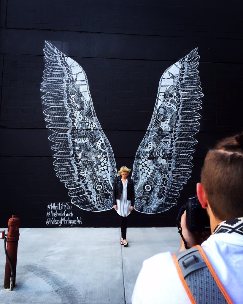 Nashville WhatLiftsYou wings Kelsey Montague Art
